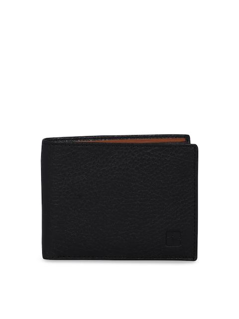 SPYKAR Men Black Leather Two Fold Wallet
