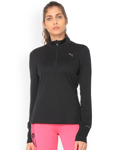 Puma Women Black Solid Sweatshirt
