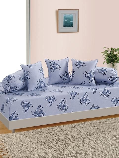 SWAYAM Unisex Blue Printed Diwan Set
