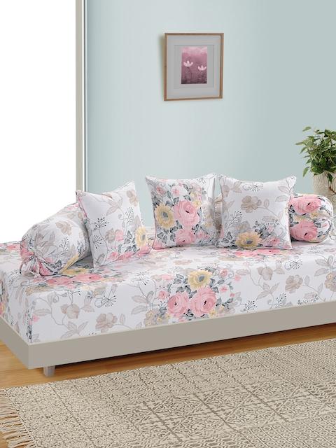 SWAYAM Unisex Off White & Multicoloured Printed Diwan Set