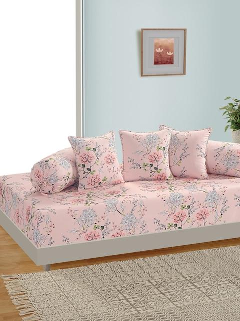 SWAYAM Unisex Pink & Grey Printed Diwan Set