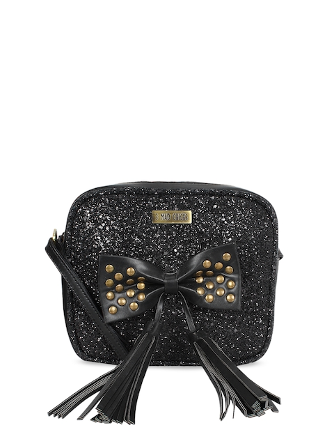 3 Mad Chicks Black Embellished Sling Bag