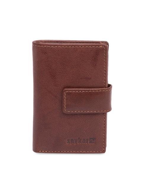 SPYKAR Men Brown Solid Card Holder