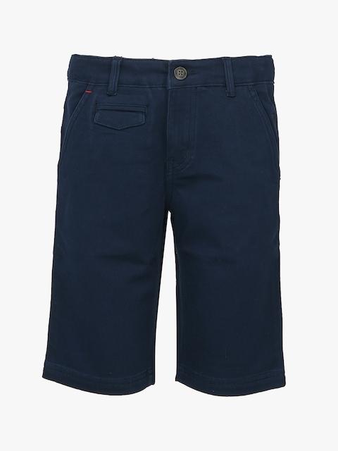 Navy Blue Solid Regular Fit Shorts