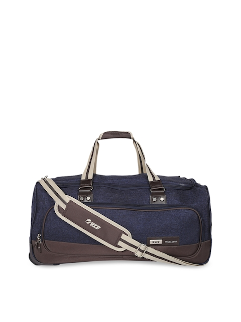VIP Unisex Blue Solid Medium Duffel Bag