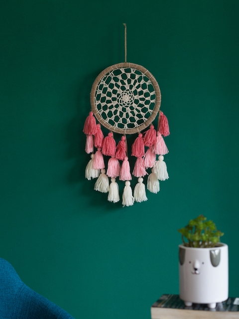 Chumbak Ombre Pink Tassels Dream Catcher