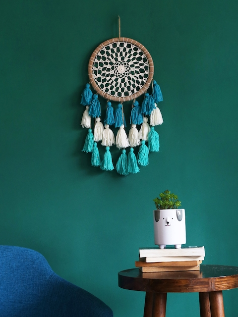 Chumbak Blue Ombre Tassels Dream Catcher