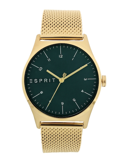 ESPRIT Men Olive Green & Gold-Toned Analogue Watch ES1G034M0075