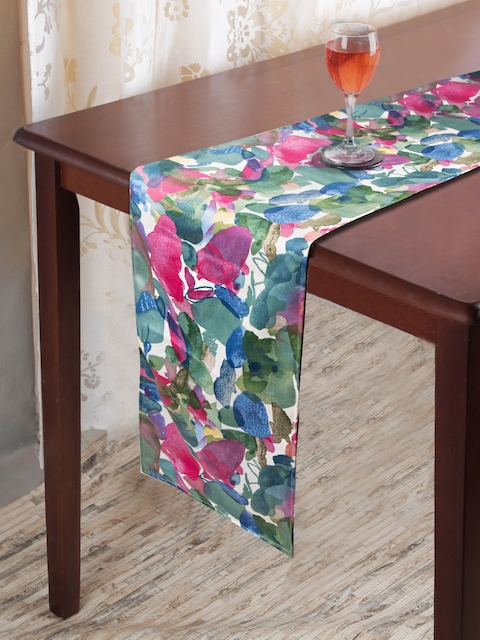 HOUZZCODE Multicoloured Printed Table Runner
