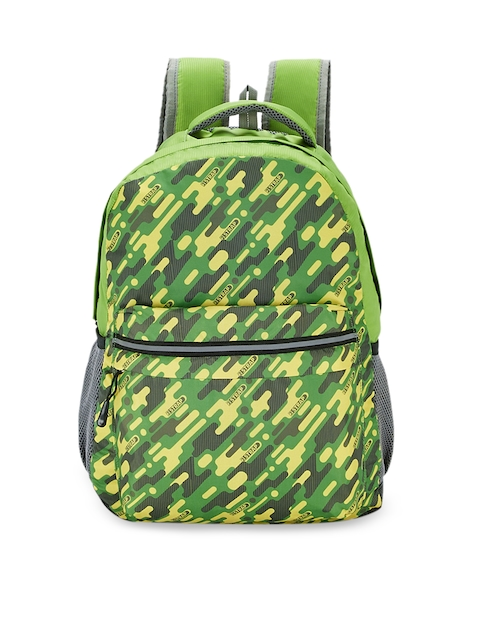 2 STRAP Unisex Green Graphic Backpack