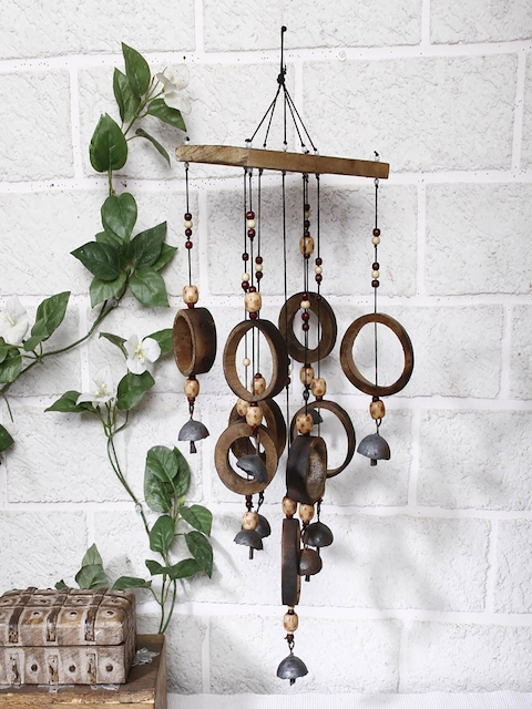 Unravel India Brown Bamboo Loops Windchime
