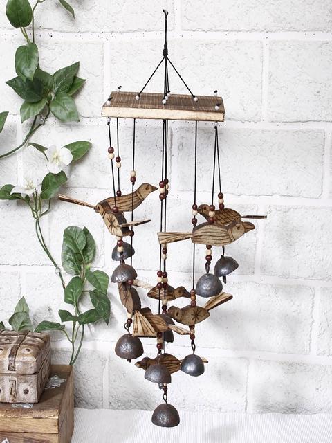 Unravel India Brown Bamboo Bird Windchime