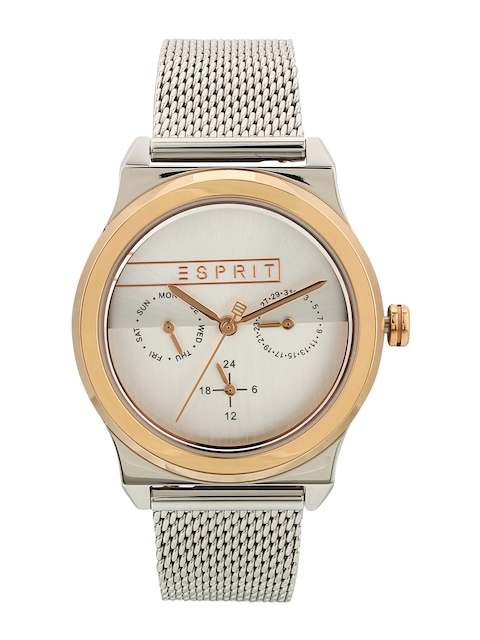 ESPRIT Women Silver-Toned Analogue Watch ES1L077M0085