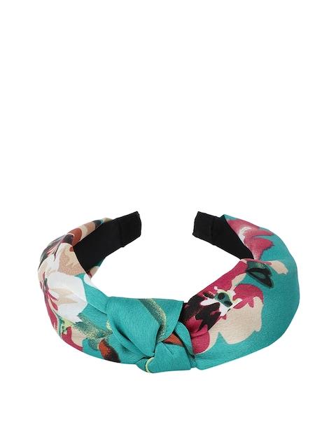 Kazo Green & Beige Printed Hairband