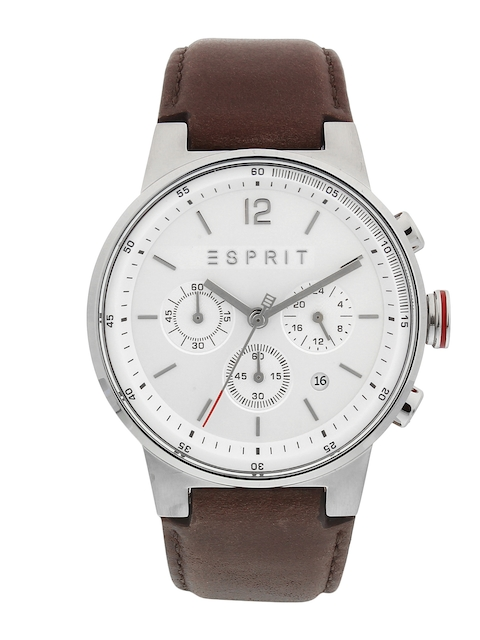 ESPRIT Men Silver-Toned Analogue Watch ES1G025L0015
