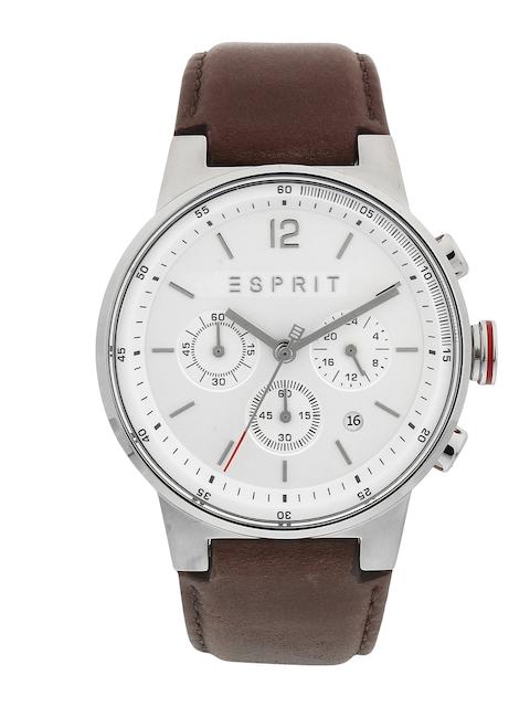 ESPRIT Men Silver-Toned Analogue Watch ES1G025L0015