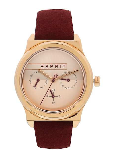 ESPRIT Women Rose Gold Analogue Watch ES1L077L0035
