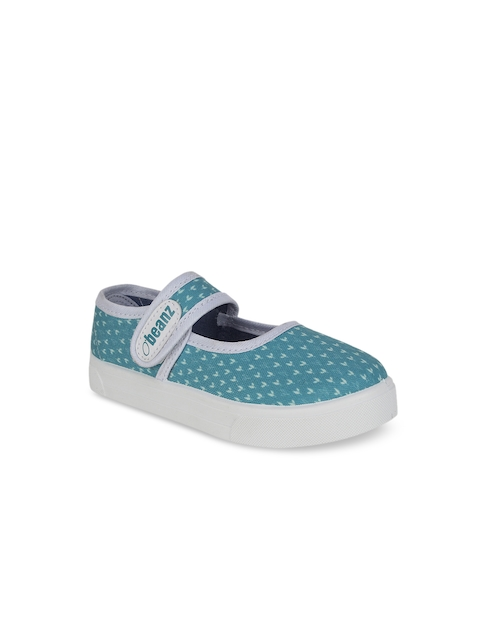Beanz Girls Blue Flatforms