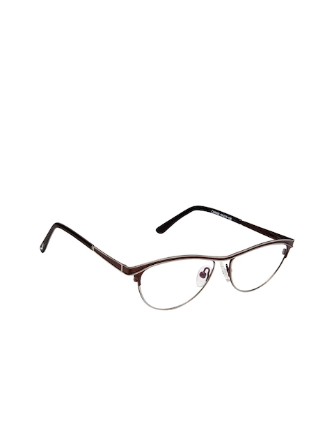 Cardon Women Brown Solid Half Rim Cateye Frames EWCD2080MGM8009BRN