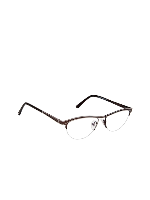 Cardon Women Brown Solid Half Rim Oval Frames EWCD2086MGM8010