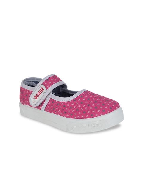 Beanz Girls Pink Flatforms