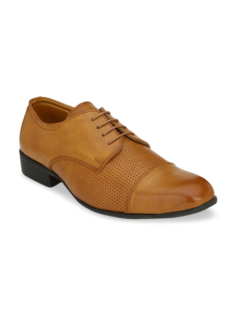 Fentacia Men Beige Synthetic Leather Formal Derbys