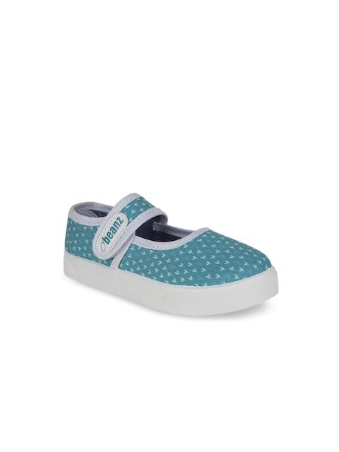 Beanz Girls Blue Flatforms