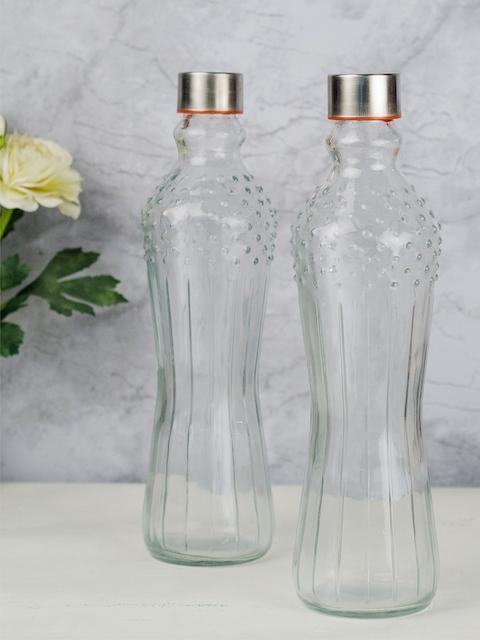 GOODHOMES Set of 2 Transparent Water Bottles