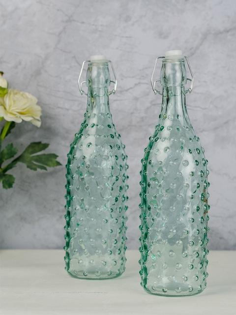 GOODHOMES Set of 2 Green Water Bottles