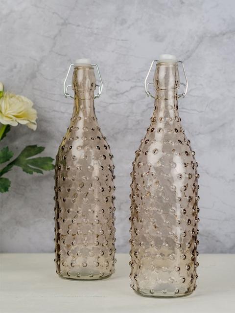 GOODHOMES Set of 2 Brown Water Bottles