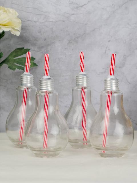 GOODHOMES Set of 4 Transparent Water Bottles
