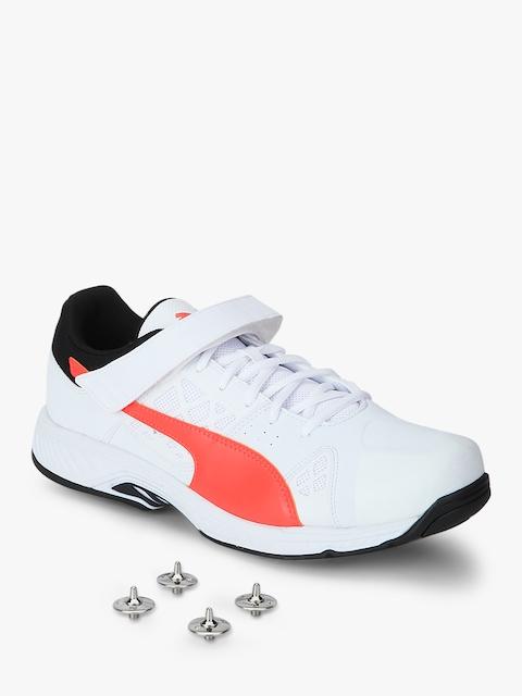 Puma Men White Evospeed B White Cricket Shoes