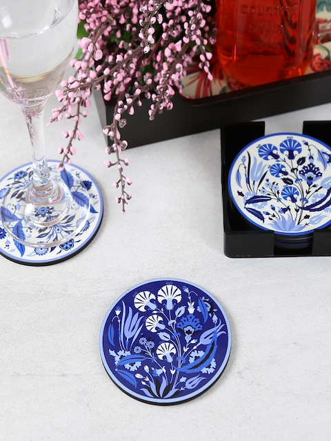 Reinvention Factory Set of 6 Printed Circular-Shaped Coasters