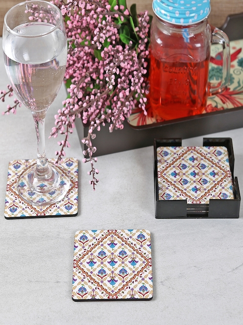 Reinvention Factory Multicoloured Set Of 6 Wooden Coasters