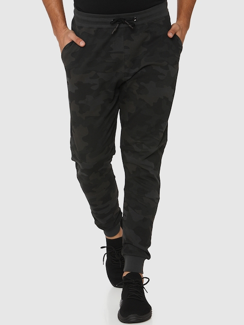 Mufti Men Charcoal Grey Camouflage Slim-Fit Joggers