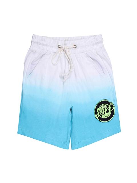 One Friday Boys Off-White Washed Regular Fit Regular Shorts