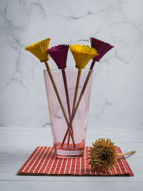Pasabahce Pink Glass Flower Vase
