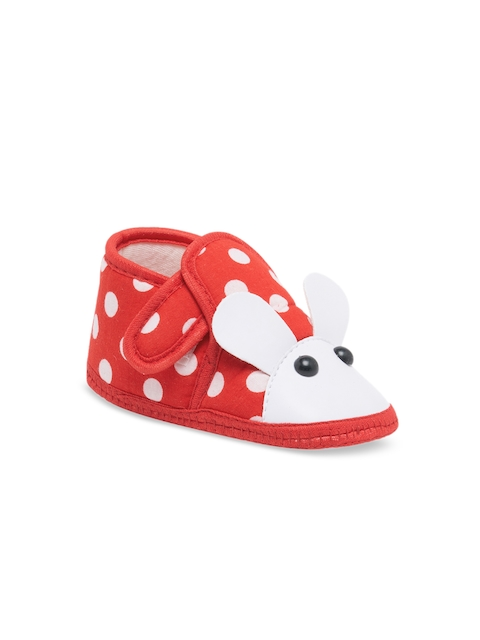 My Soul Kids Red & White Printed Booties