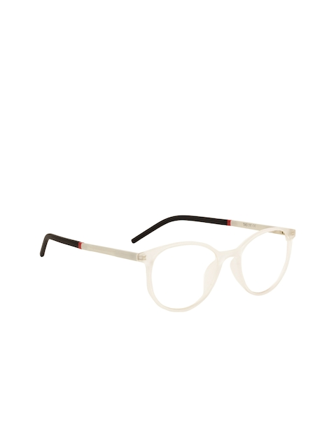 TAG EYE Unisex White Solid Full Rim Oval Frames 1910TAG183