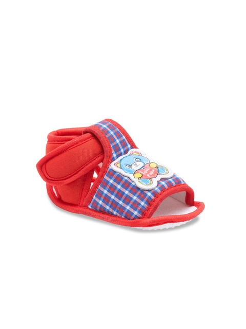 My Soul Kids Red & Blue Checked Booties