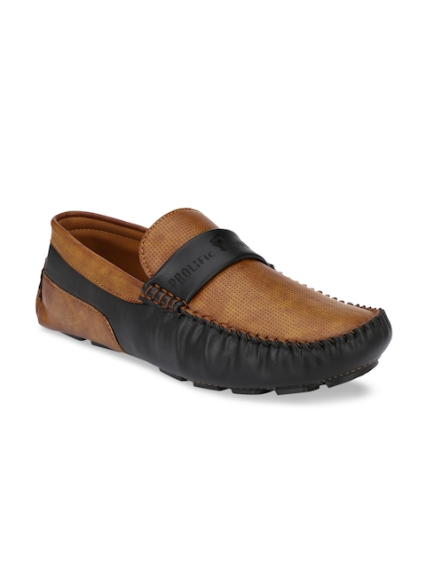 Prolific Men Tan Brown Driving Shoes