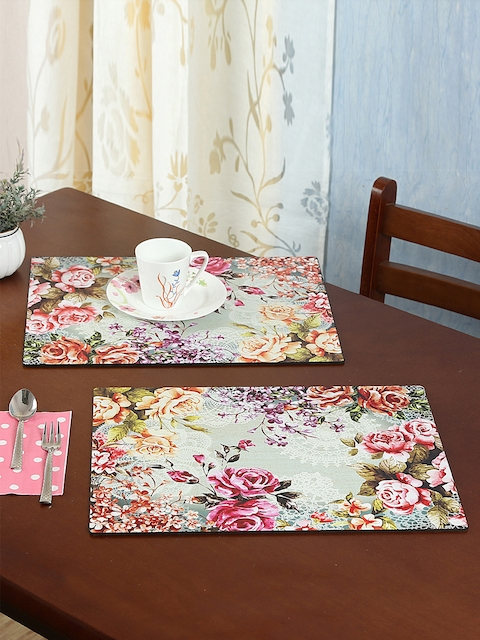 Reinvention Factory Set of 6 Multicoloured Printed Table Placemats