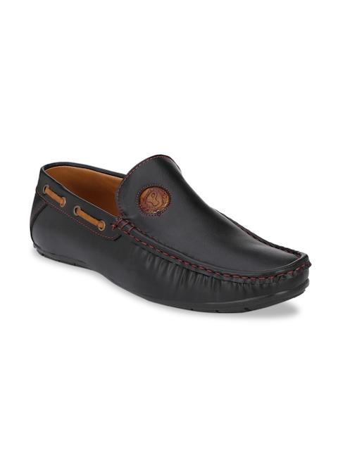 Prolific Men Black Boat Shoes