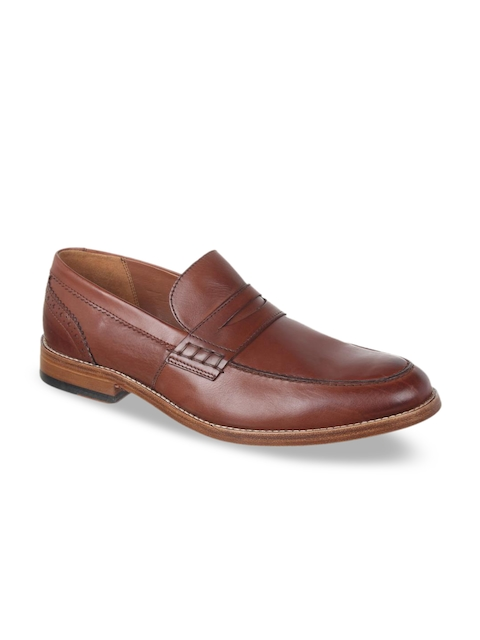 Clarks Men Tan Loafers