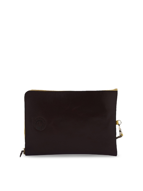 Trunkcall Talkies Burgundy Solid Leather Tablet Sleeve