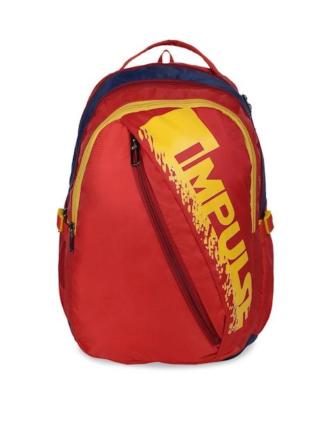 Impulse Unisex Red Brand Logo Backpack