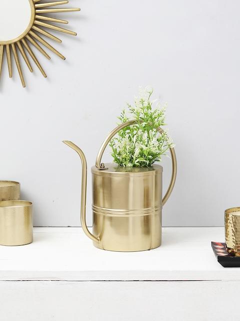 HOME DECOR INDIA Gold-Toned Metal Designer Flower Vase