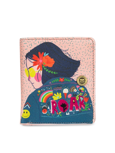 Chumbak Women Pink Printed Two Fold Wallet