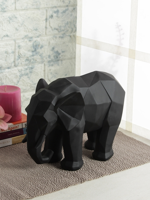 India Circus by Krsnaa Mehta Black Solid Elephant Figurine