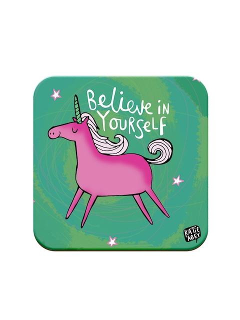 Happywagon Green Printed MDF Square Coaster